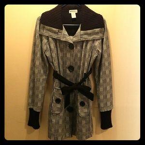 Jackets & Blazers - Lightweight Jacket Black And White Size M